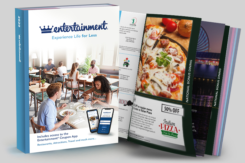 Advertise your restaurant or business in the Entertainment Coupon Book